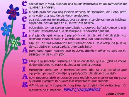 Acróstico para Cecilia Díaz - Poemas de Amor Poesias y Poemas para ...
